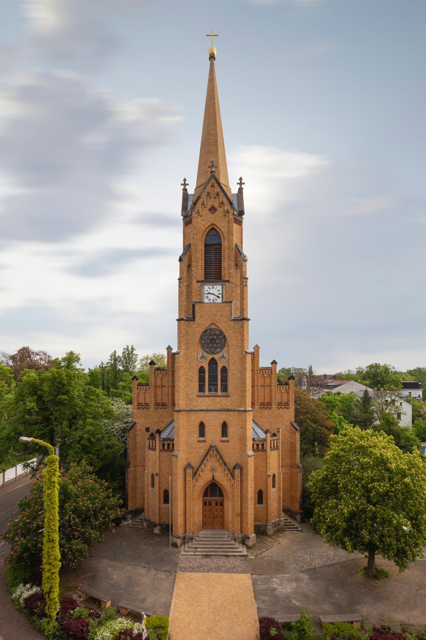 Architekturfotografie der Friedenskirche Leipzig