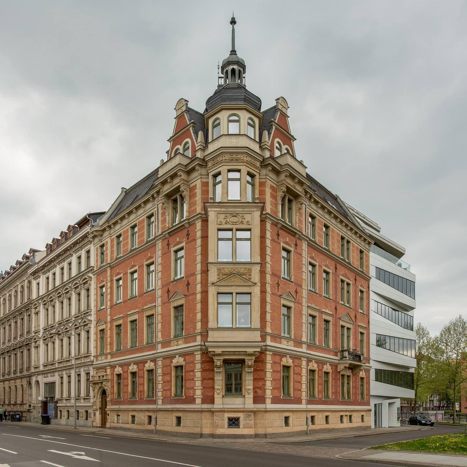 Architekturfotografie eines durch das Architekturbüro Voigt sanierten Gebäudes in Leipzig