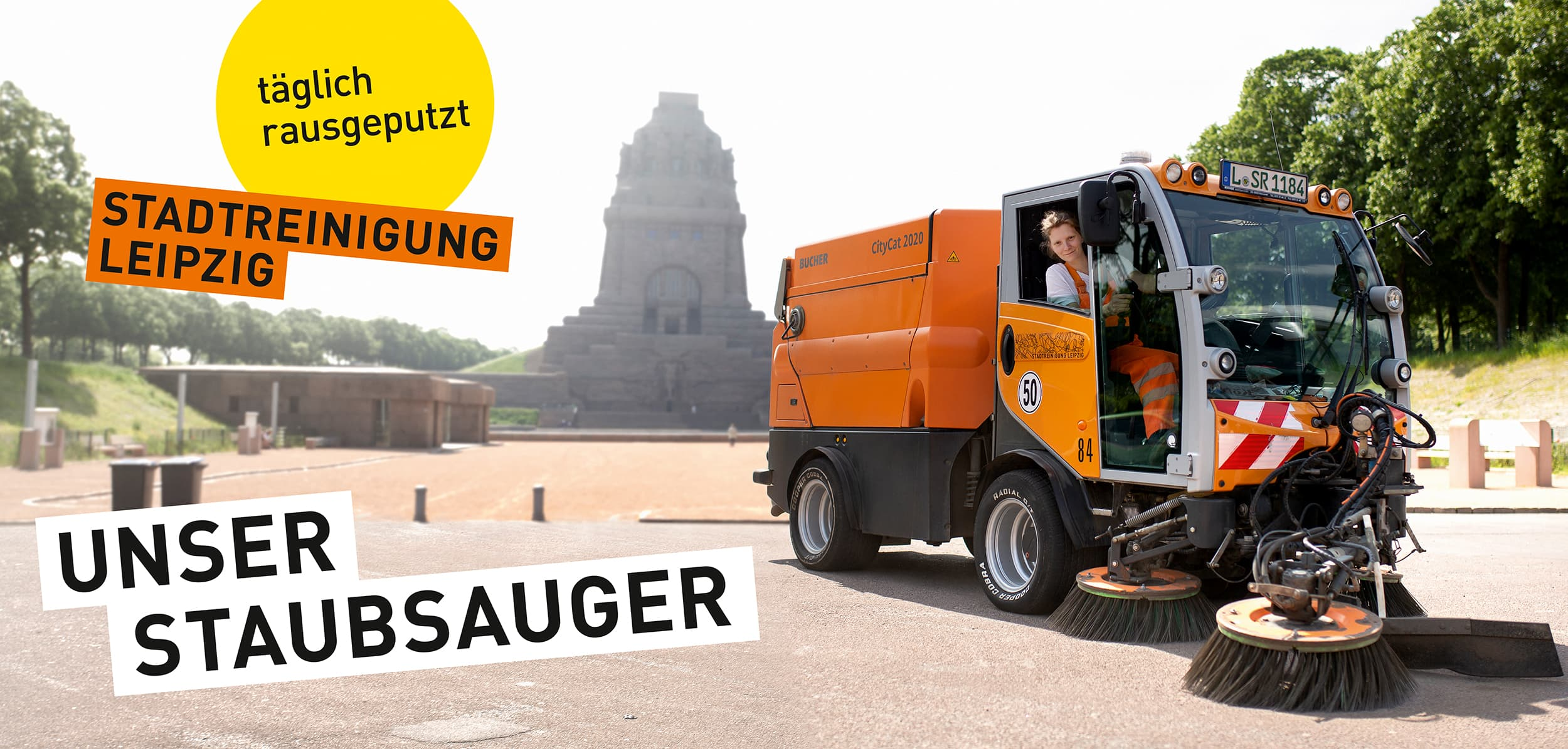 Regentaucher | Fotografie einer Kehrmaschine für die Image Kampagne der Stadtreinigung Leipzig