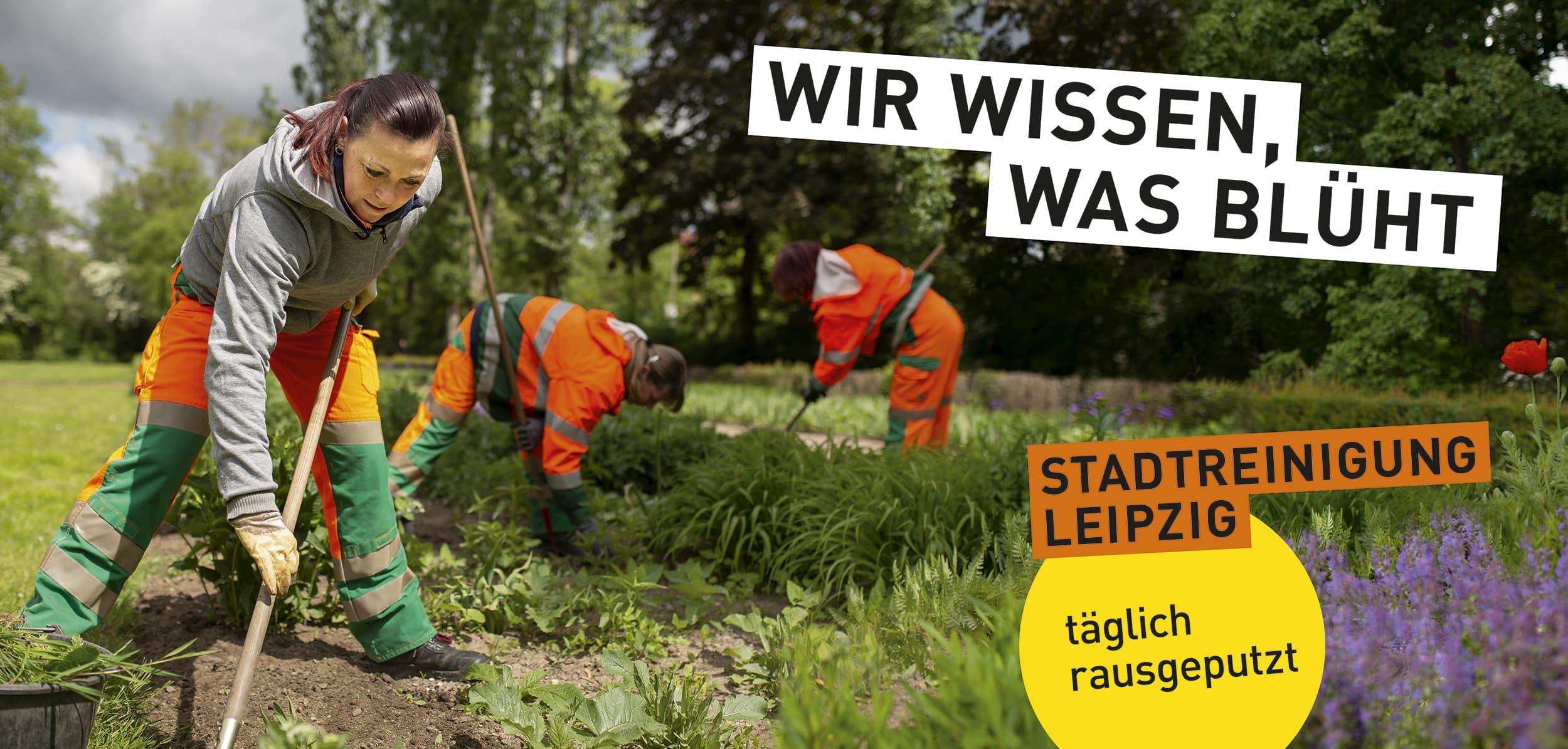 Stadtreinigung Leipzig - Portraitfotografie während der Sommerbepflanzung des Clara-Zetkin-Parks