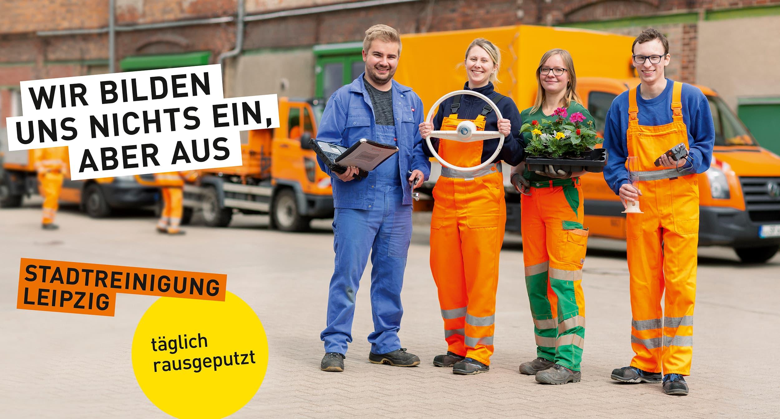Stadtreinigung Leipzig - Portraitfotografie von Auszubildenden auf dem Wertstoffhof. © Regentaucher Fotografie