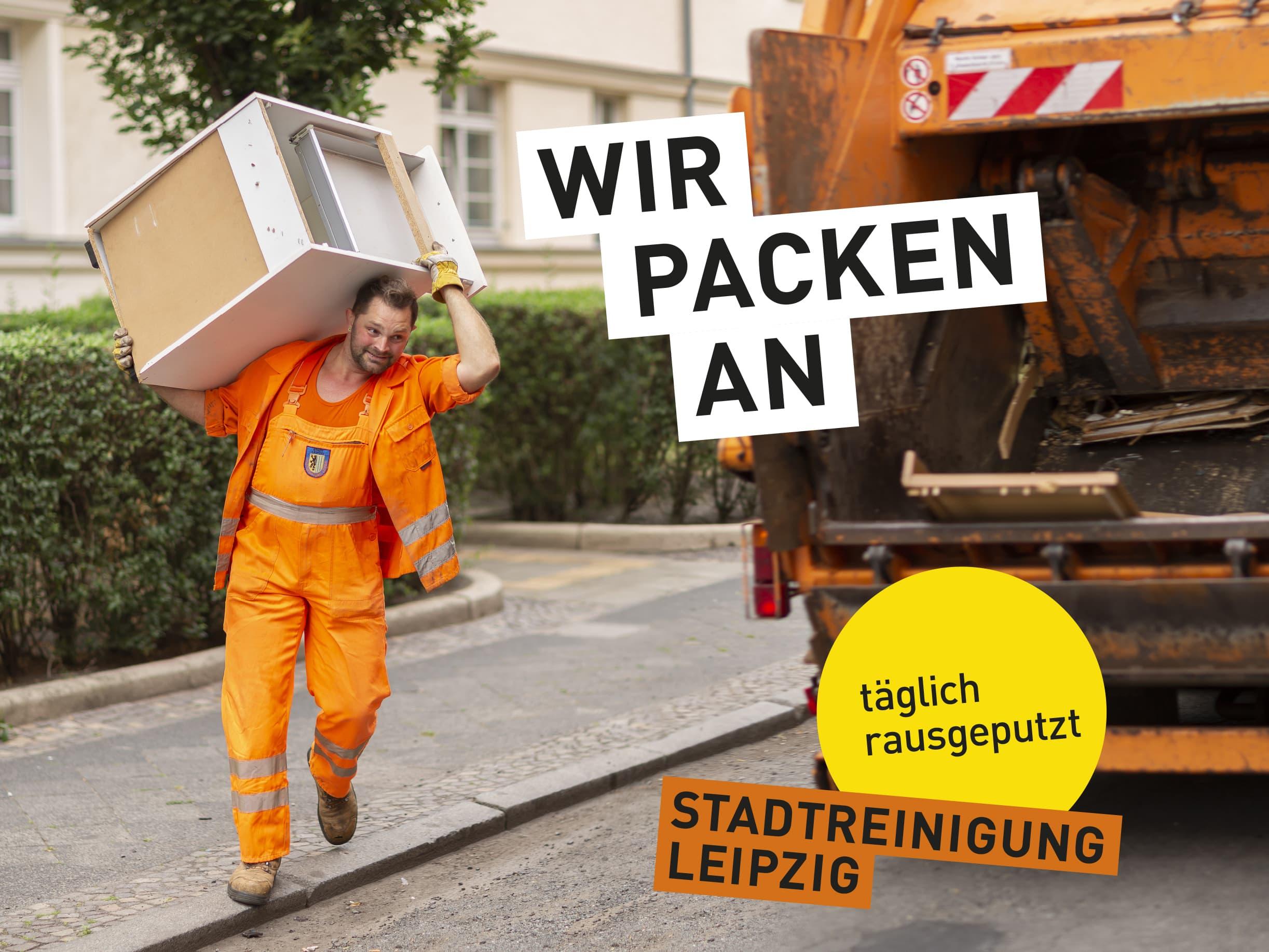 Portraitfotografie eines Mitarbeiters der Stadtreinigung Leipzig. © Regentaucher Fotografie